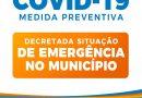Município de Glória-BA decreta situação de Emergência por causa do COVID-19