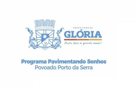 Glória/BA: Povoado Porto da Serra é contemplada com 6 mil metros de pavimentação, confira!