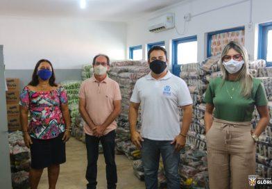 Glória-BA: Prefeito David Cavalcanti define logística para entrega de 2.400 kits de alimentação escolar⠀